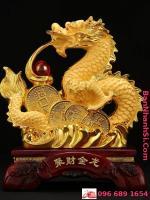 Tượng rồng vàng phong thủy0