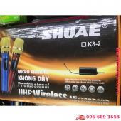 Micro Bộ 2 micro không dây UHF SHUAE K8-2 chính hãng