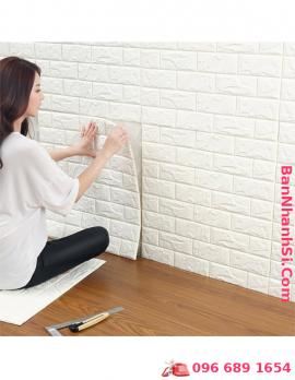 Xốp dán tường 3D giả gạch 70-70cm