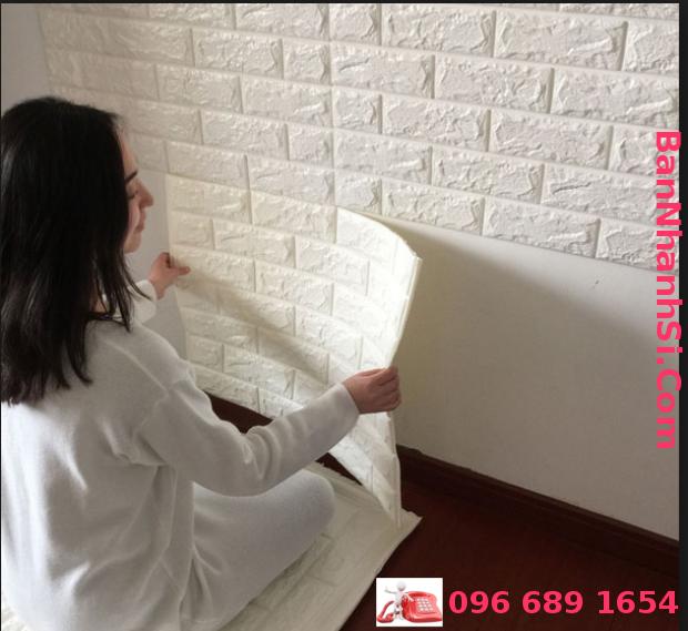 xốp dán tường 3D giả gạch 70cm